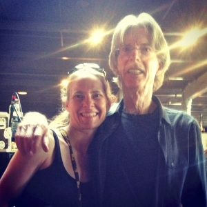 Team Founder Jen K. Liput Drumme with Phil Lesh of the Grateful Dead